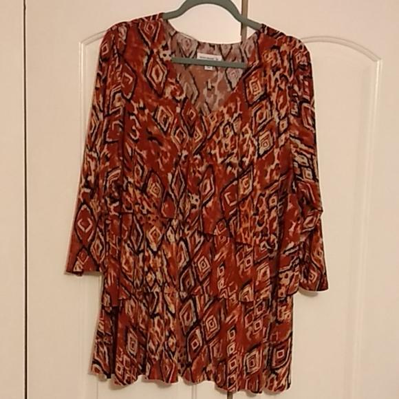 Susan Graver Tops - 25%⬇️Susan graver Geometric design blouse